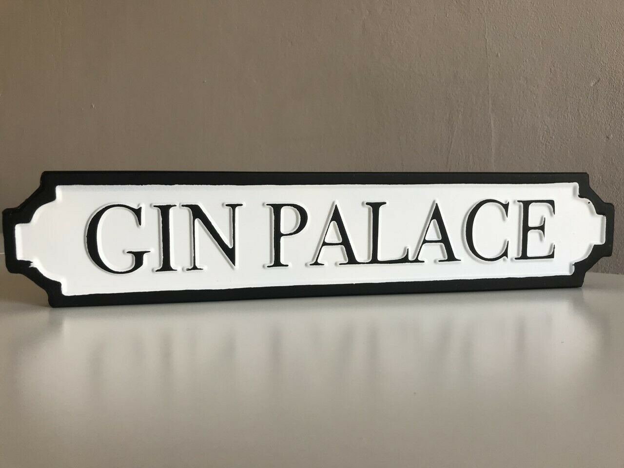 GIN PALACE Perfect for Gin Lovers Street Sign Vintage Road Sign